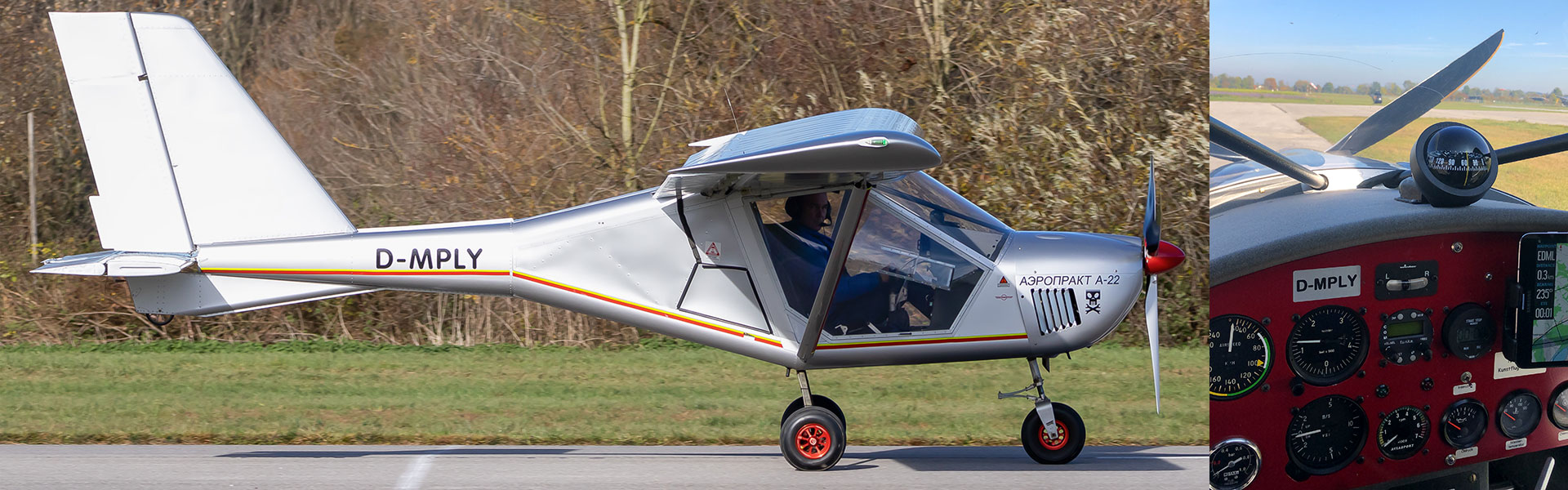 Ultraleicht-Flugzeug für den Rundflug Bayern