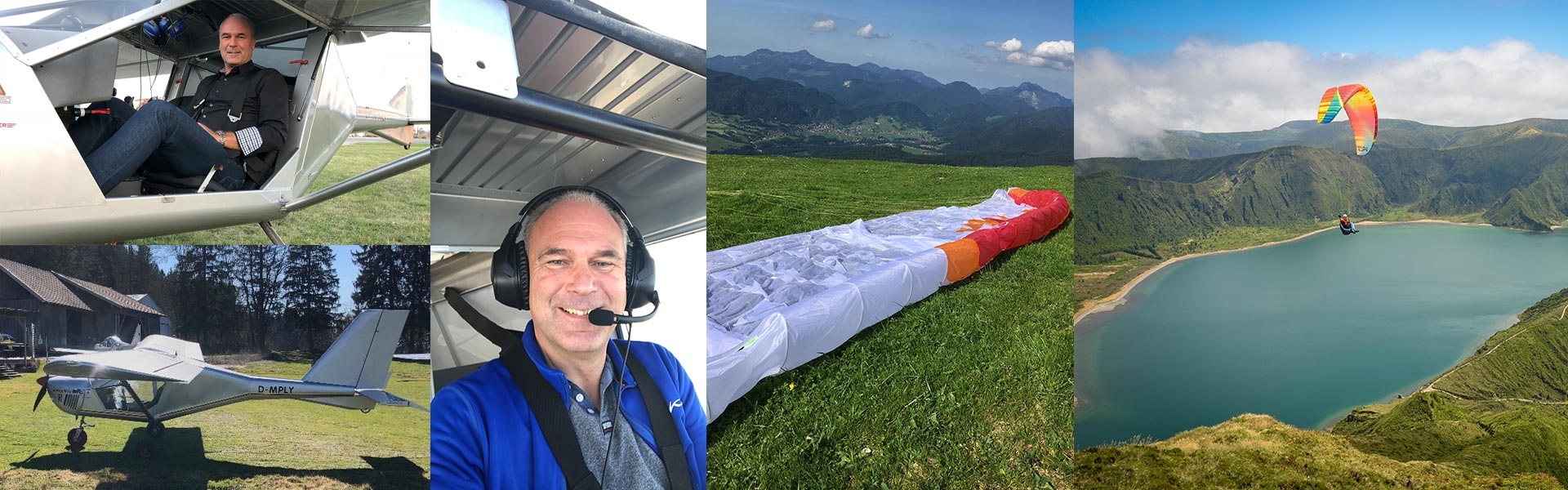 Der Pilot des Ultraleichtflugzeuges: Michael Emde
