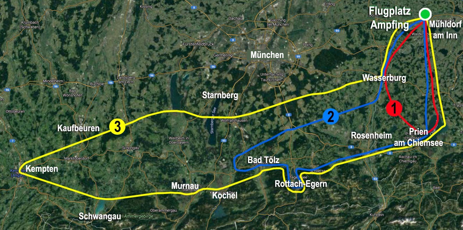 Rundflüge in Bayern über die Bayerischen Seen